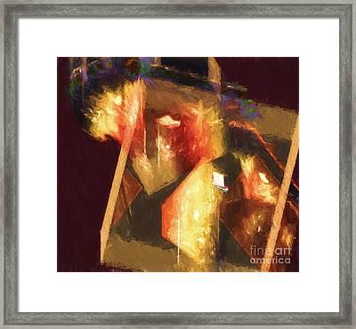 Inner Turmoil Digital Oil Painting Framed Print