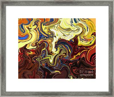 Framed Print featuring the digital art Inner Turmoil by Lena Wilhite
