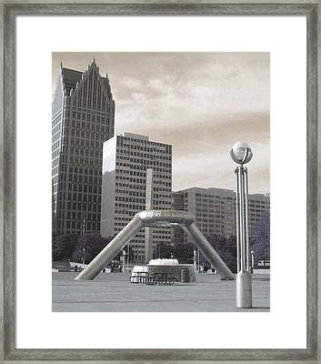 Inner Void Of Hard Plaza Phase 2 Framed Print