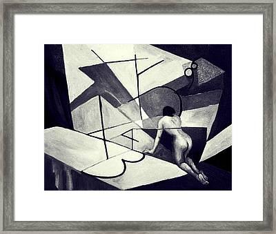 Inner World In Black And White Framed Print