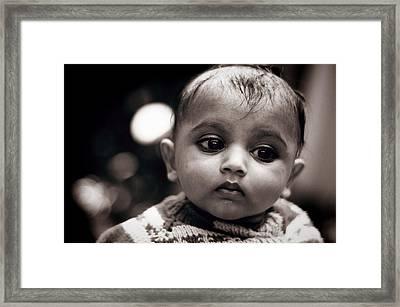 Innocence Framed Print by Money Sharma