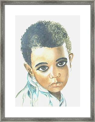 Innocent Sorrow Framed Print by Sophia Schmierer