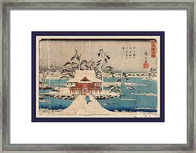 Inokashira No Ike Benzaiten No Yashiro Framed Print by Utagawa Hiroshige Also And? Hiroshige (1797-1858), Japanese