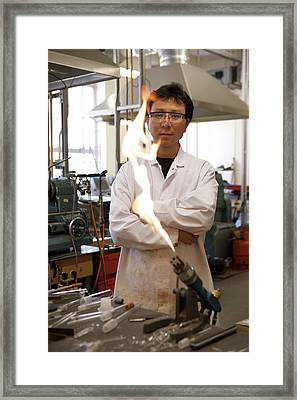Inorganic Chemistry Research Framed Print by Matt Stuart/oxford University Images