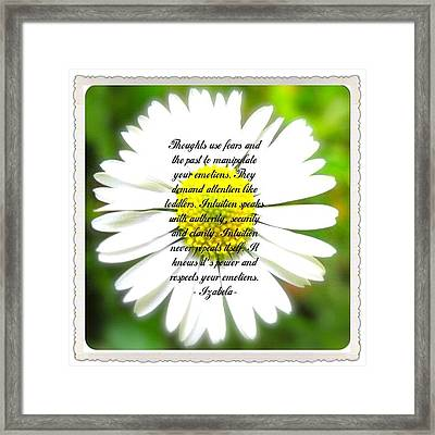 Inpirational Quotes Framed Print