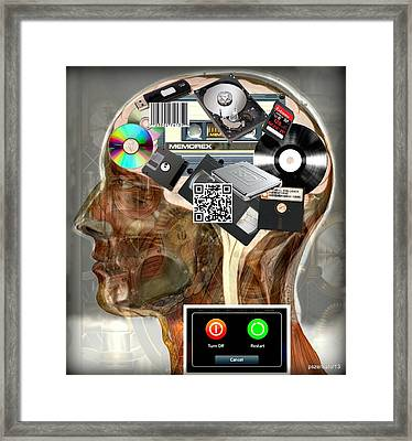 Input - Output - Processing And Storage Devices Framed Print by Paulo Zerbato