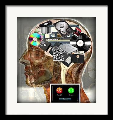 Mechanization Digital Art Framed Prints