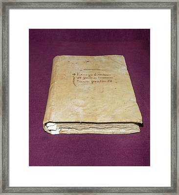 Inquisition Book Of Judgements Framed Print
