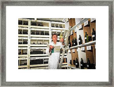 Inra Wine Collection Framed Print by Philippe Psaila