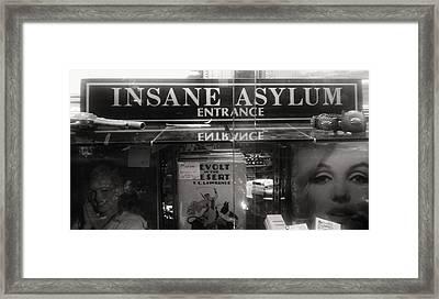 Insane Asylum Framed Print by Sharon Costa