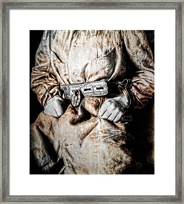 Insane Person In Restraints Framed Print by Daniel Hagerman