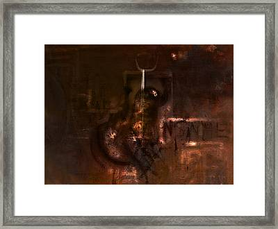 Insanity Framed Print by Kim Gauge
