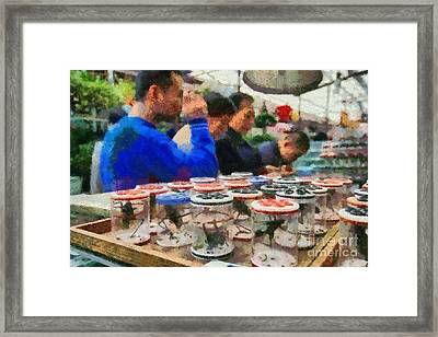 Insect Market In Shanghai Framed Print by George Atsametakis