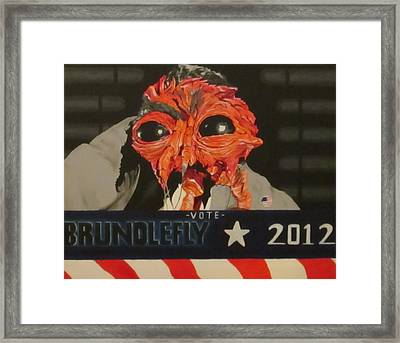 Insect Politician Framed Print by Chris Fern