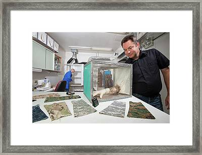 Insect-repellent Military Clothing Framed Print by Stephen Ausmus/us Department Of Agriculture