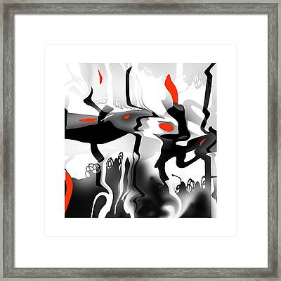 Framed Print featuring the digital art Insect  T  Sides by Bob Salo