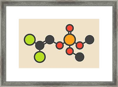 Insecticide Molecule Framed Print by Molekuul
