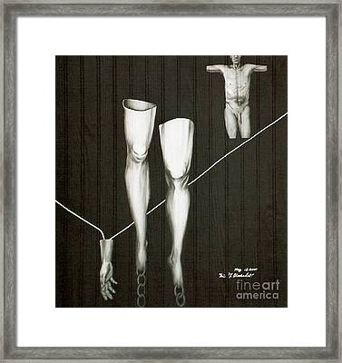 Framed Print featuring the painting Insecurity by Fei A