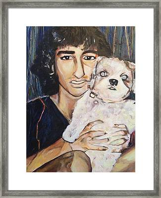 Inseparable Sunny And Milly Framed Print by Belinda Low