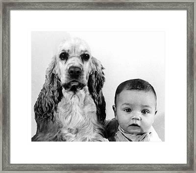 Inseparable Buddies Framed Print