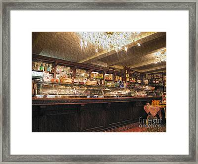 Inside A Cafe In Italy Framed Print by Patricia Hofmeester