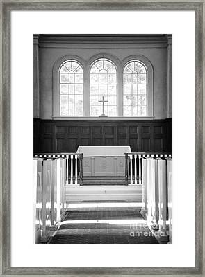 Martha-mary Chapel Sudbury Ma Framed Print