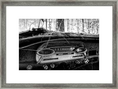 Inside A Comet In Black And White Framed Print by Greg Mimbs