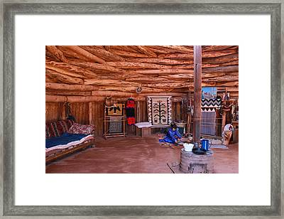 Inside A Navajo Home Framed Print