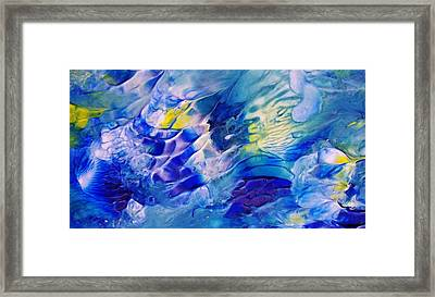 Inside A Wave Framed Print