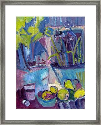 Inside And Outside Abstract Expressionism Framed Print by Betty Pieper