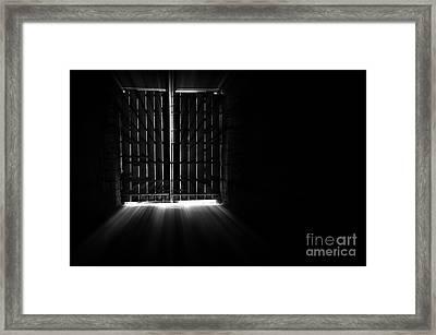 Inside Barn Framed Print by Svetlana Sewell