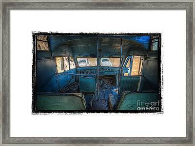 Inside Bus 1 Framed Print by Mauro Celotti