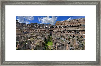 Inside Colosseum Framed Print by Patrick Jacquet