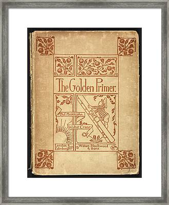 Inside Cover Of 'the Golden Primer' Framed Print by British Library