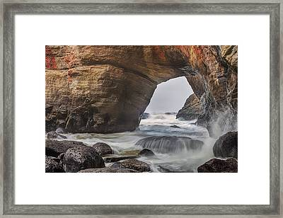 Framed Print featuring the photograph Inside Devils Punch Bowl by Jacqui Boonstra