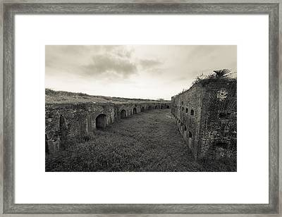 Inside Fort Macomb Framed Print