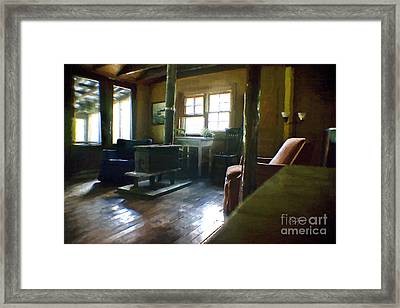 Inside Heaven In Oil Framed Print by Cris Hayes