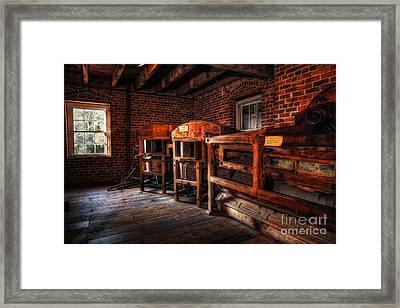 Inside Kerr Mill I - North Carolina Framed Print