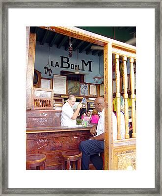 Inside La Bodeguita Del Medio Framed Print by Valentino Visentini