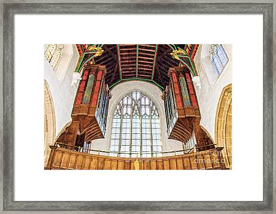 Inside Leicester City Cathedral Framed Print by Linsey Williams