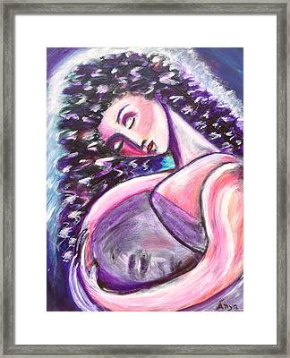 Framed Print featuring the painting Inside Me by Anya Heller
