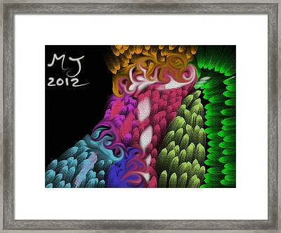 Inside My Mind Framed Print by Michael Jordan