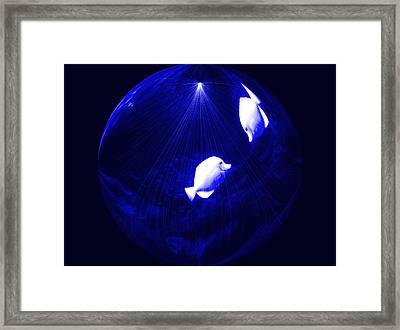 Inside My Own Planet Digital Art By Saribelle Rodriguez Framed Print by Saribelle Rodriguez