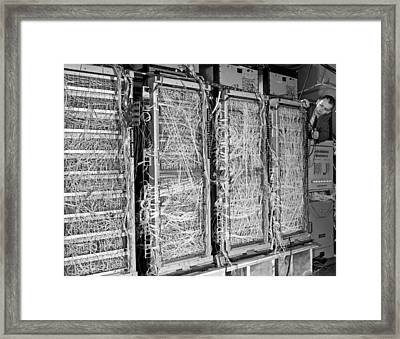 Inside Of Main Frame Computer Framed Print