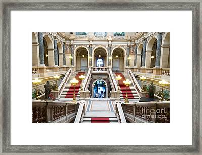 Inside Of National Museum In Prague Framed Print by Michal Bednarek