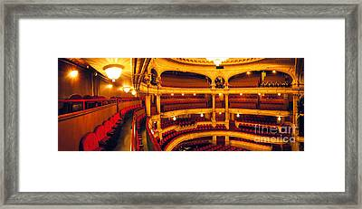 Framed Print featuring the photograph Inside Of Old Theatre by Michael Edwards