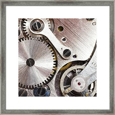 Inside Of Pocket Watch Framed Print by Science Photo Library