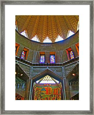 Inside Of The Basilica Of Annunciation In Nazareth-israel  Framed Print by Ruth Hager