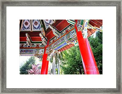 Inside Of The Stow Lake Pagoda Framed Print by Jim Fitzpatrick