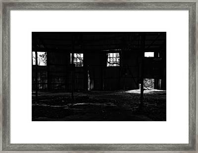 Inside Old Warehouse Framed Print